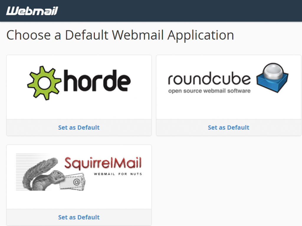 Webmail Hosting Access